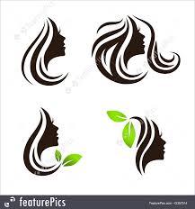 Spa Salon Logo Design Woman Beauty Hair Spa Salon Logo Design Set Illustration