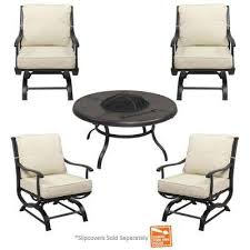 fire pit furniture. Fine Pit Redwood Valley 5Piece Metal Patio Fire Pit Seating Set With Cushions  Included Choose In Furniture H