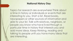 national history day national history day information and research  national history day topics for research are everywhere