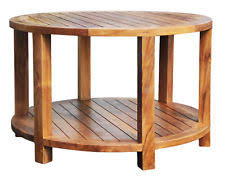 teak bahama round coffee table made by chic chic teak furniture27 chic