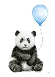 <b>Baby</b> Animals with Balloons <b>Art Prints</b> Jungle Safari Animals Nursery ...