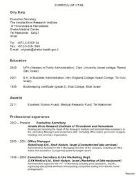 Adorable Sample Resume Of Secretarial Job Also Cover Letter Sample