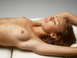 Karina Dazzling Exposed Nude Body On Massage Bed Slim And.