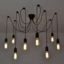 fuloon vintage edison 8 heads ceiling spider light pendant lighting chandelier