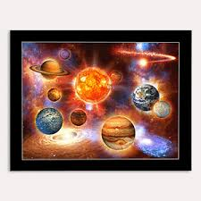 image is loading universe planets solar system 3d wall art poster  on solar system 3d wall art with universe planets solar system 3d wall art poster matted 11 x