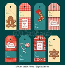 Christmas Tags Funny Christmas Label Set