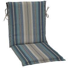 allen roth 1 piece stripe blue standard patio chair cushion