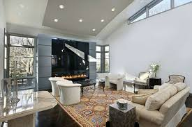 trendy living room modern built in ceiling lights vaulted ceilings long fire pit entertainment center with i63 ceiling