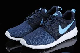 nike running shoes for men blue. mens running shoes nike roshe run navy blue white for men r