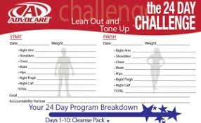 Advocare Cleanse Chart Brochures 24 Day Challenge