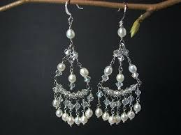 chandelier pearl earrings chandelier wedding earrings crystal natural pearl chandelier bridal earring vintage pearl chandelier bridal chandelier pearl