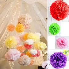 How To Make Tissue Paper Balls Decorations 100Pcs Wedding Party DIY Tissue Paper Pompoms Pom Poms Flower Balls 76