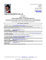Styles Hotel Cv Example Good Best Resume Format For Hotel Industry