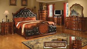 Coronado Cherry w/Marble Top Bedroom Set by Mainline