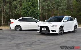 2018 mitsubishi lancer evo x. unique 2018 2016 mitsubishi evo vs subaru wrx sti2 throughout 2018 mitsubishi lancer evo x