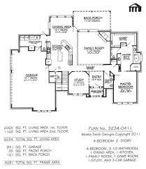 Bungalow Style House Plan  3 Beds 350 Baths 3108 SqFt Plan 93019Four Car Garage House Plans