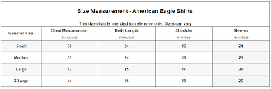 American Eagle Shirt Size Chart Brands4less