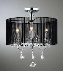 aubree 3 lights black and chrome semi flush mount crystal chandelier 18 5 w x