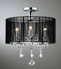 aubree 3 lights black and chrome semi flush mount crystal chandelier 18 5 w x
