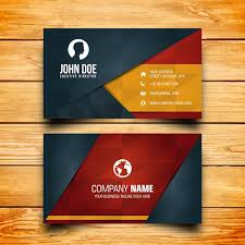 Free Download Cards Business Card Design Vector Free Download