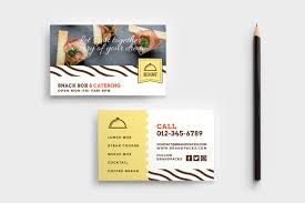 business services template catering service business card template psd ai vector