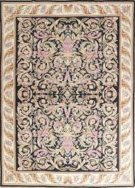 flat weave black aubusson tapestries chinese oriental area rug 11 6 x 8 3