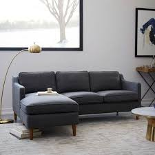 best sectionals for small spaces. Fine Small A Hamilton Upholstered Chaise Sectional From West Elm Is One Of The Best  Sofas For Small Spaces On Best Sectionals For Small Spaces E