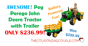 peg perego john deere tractor with trailer only 236 99