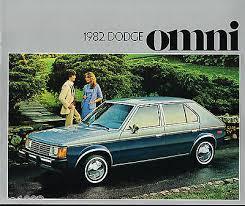 1982 Dodge Omni Brochure Catalog With Color Chart Miser Custom E Type Ebay