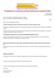 Letter Of Acceptance Sample School Template Letter For School Appeals School Appeals In England