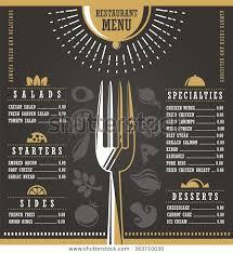 Restaurant Menus Layout Restaurant Menu Design Abstract Menu Layout Royalty Free