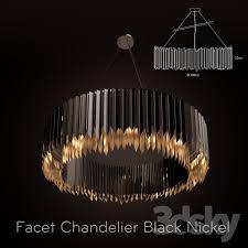 facet chandelier black nickel on black