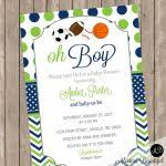 All Star Sports Baby Shower Invitations  Home Decorating Baby Shower Invitations Sports Theme