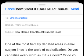 you capitalize your email subject lines