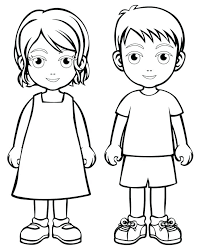 Boy And Girl Coloring Pages Anime Coloring Page Pretty Girl And Boy
