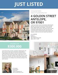 Townhouse Listing Flyer Template Real Estate Marketing Ideas