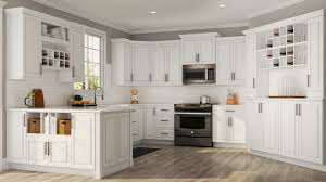 Hampton Bay Kitchen Cabinets Design Hampton Wall Cabinets In White Kitchen The Home Depot