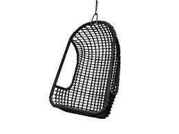 hk living outside hanging chair black