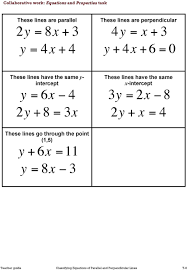 y 4x 6 0 these lines have the same x intercept 3y 10 parallel and perpendicular lines here are some equations of straight