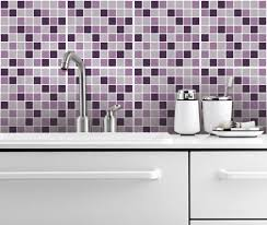 Kitchen Tile Decals Stickers Lilac Mosaic Tiles Decals 12 Tiles Decals Tile Sticke