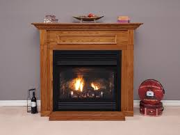 vail 24 vfp24 with optional ceramic aged brick liner cherry mantel and hammered pewter frame louvers and bottom trim
