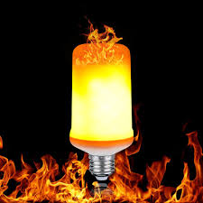 Flame Effect Light Bulb Uk Led Flame Effect Light Bulb Flickering Emulation Fire Light Yellow Blue Flame