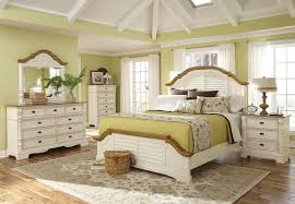 White Cottage Bedroom Furniture White Cotton Master Bedding Setc - Red gloss bedroom furniture