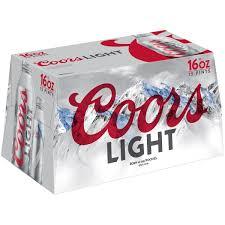 Coors Light 16 Oz Aluminum Bottle Koozie Coors Light Beer American Light Lager 15 Pack Beer 16 Fl