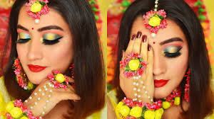 indian bridal makeup tutorial mehendi function indian wedding series video 1