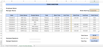excel project timesheet excel time tracking 4 templates pros and cons and alternatives