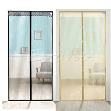 magic curtain door mesh magnetic hands free fly mosquito bug insect screen hot