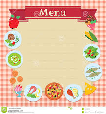 free food menu templates healthy food menu template stock vector illustration of lemon