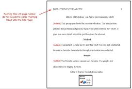 Apa Format Outline Research Papermple Psychology Title Page