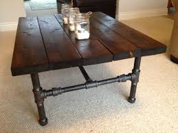 ... Coffee Table, Captivating Brown Rectangle Wood DIY Industrial Coffee  Table Design Which You Need To ...